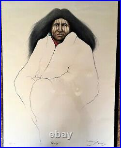 Frank Howell Magpie Lithograph Hand Colored and Hand Signed 38/40 HC, 1994