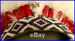 Genuine Native American Navajo 36 Indian Headdress SHADOW WARRIOR Black & White