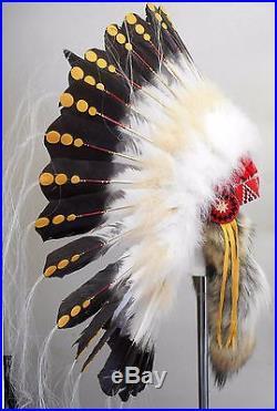 Genuine Native American Navajo Indian Headdress 36 diameter 1875 REPLICA