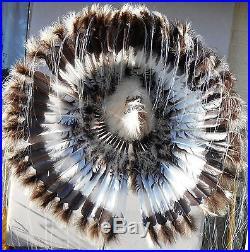 Genuine Native American Navajo Indian Headdress 36 diameter DESERT BROWN