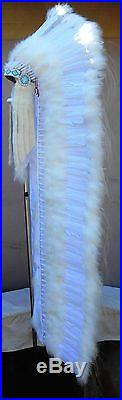 Genuine Native American Navajo Indian Headdress 6 foot long WEDDING TRAILER