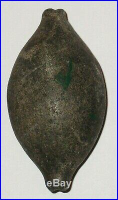 Great Authentic Native American Indian Artifact Notched ends Charm Stone