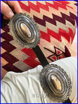 Great! Huge Old Pawn Sterling Silver Southwest Navajo Indian Concho Belt