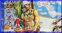 HERMES Les Ameriques Columbus SILK SCARF Kermit Oliver Native American Maya Inca