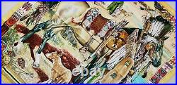HERMES Les Cheyennes SILK SCARF Kermit Oliver Native American Maya Inca Horse