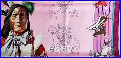 HERMES Pani La Shar Pawnee SILK SCARF by Kermit Oliver Native American Indian