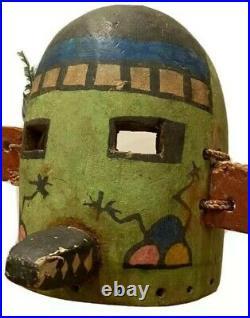 Hopi Kachina Mask Antique Native American Indian Early Morning Singer Headdress