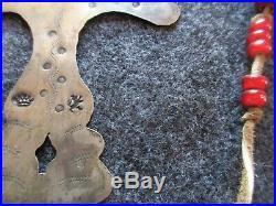Hudson Bay Silver Cross, Fur Trade Era Native American Indian Gorget #co-01951