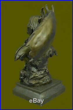 INDIAN CHIEF Bronze Sculpture Statue Art Warrior Spirit American Native Figure
