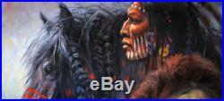 INDIAN Mustang Original Oil Painting Western art Southwest Native American WEST