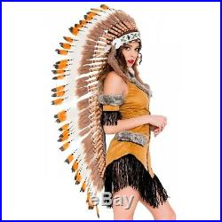 Indian Headdress Adult War Bonnet Native American Chief Costume Fancy Dress