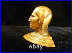 Jennings Solid Bronze Native American Indian Slot Machine Mascot circa 1950