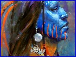 Lakota Native American Indian Original Oil painting SCOTTSDALE Western ART CHIEF