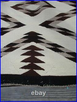 Large 82 Inch Native American Indian Rug Blanket Navajo Geometric Tribal Master