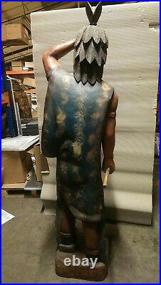 Large Carved Cigar Store Native American Indian