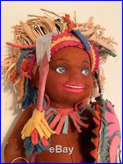 Lenci Type Cloth Felt Indian Native American Doll 12