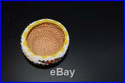 Lovely Paiute Indian Beaded Basket Willow Native American Nevada