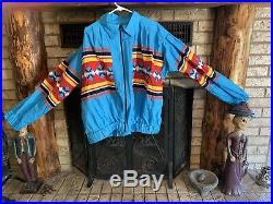Mens Seminole Indian Native American Patchwork Jacket