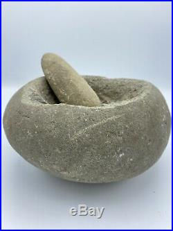 Museum Native American CA Grinding Stone Mortar Pestle Indian Artifact 13+lbs