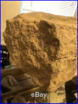 NATIVE AMERICAN INDIAN HUGE FORMED STONE Possible Totem Head Dug West Virginia