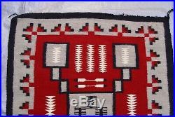 NATIVE AMERICAN NAVAJO INDIAN HAND WOVEN WOOL RUG 3'1 x 3'9