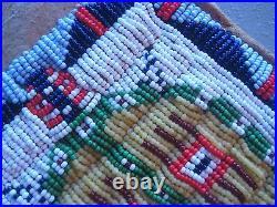 Native American Beaded Pipe Bag, American Indian Beaded Chanupa Bag. Co-158