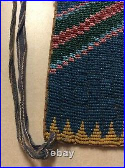 Native American Cheyenne Indian Bead Decorated Belt Nineteenth Century