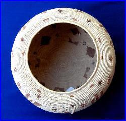 Native American Handmade Basket, Raquel Hoeffer, Seri Indians, Mexico, 6 Dia