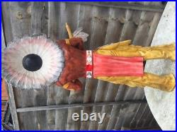 Native American Indian Chief Figurine with Peace Pipe Hand Painted 3ft tall