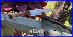 Native American Indian Fire Opal Blade Knife Turkey Claw Flint Knapping Knap Art