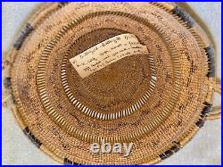 Native American Indian Hupa Open Weave Basket