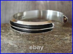 Native American Indian Jewelry Sterling Silver Bracelet by Tom Hawk