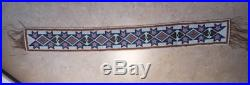 Native American Indian Loom Beadwork Strip. Italian beads pre 1910