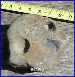 Native American Indian Mortar Artifact Rock Stone Tool Pottawatomie Menominee