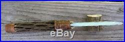 Native American Indian Opal Blade Knife Cactus Handle Flint Knapping Knap Art