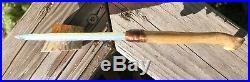 Native American Indian Opal Blade Knife Coyote Jaw Handle Flint Knap Knapping