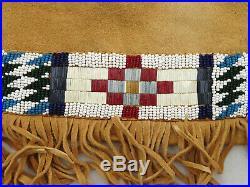 Native American Indian Plateau Yakima Beaded War Shirt Leggings Moccasins
