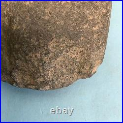 Native American Indian Stone Axe Head Artifact Grooved 6 1/2