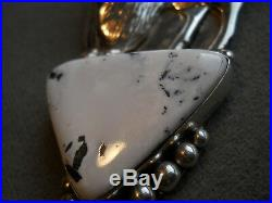 Native American Indian White Buffalo Sterling Silver Buffalo Pendant Signed IRV