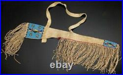 Native American Rifle Scabbard Sioux Style Indian Beaded Suede Leather