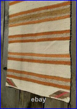 Navajo Rug Double Saddle Blanket Antique Native American Indian Textile Weaving
