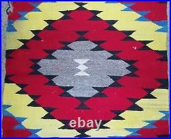 Navajo Rug Eye Dazzler Late Transitional Blanket 32 x58 Native American Indian