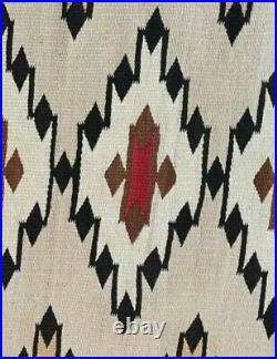 Navajo Rug Native American Indian Transitional Blanket Red Mesa Teec Nos Pos
