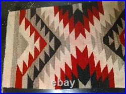 Navajo Rug Pony Saddle Blanket Throw Antique Native American Indian Weaving 1900
