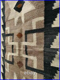 Navajo Rug Saddle Blanket Antique Native American Indian Weaving 1900 48x25