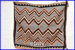 Navajo Rug native american indian weaving Textile LARGE 38x33 Vintage ATQ