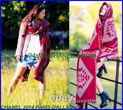 New-tags Chanel 14a Paris-dallas Native American Cashmere Poncho Coat Shawl