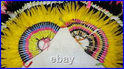 Nice Large Pair Of Hand Crafted Mens Native American Indian Fancy Dance Bustles