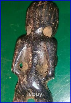 Old Ancient Stone Native American Inuit Indian Relic Idol Drilled Pendant