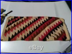 Old Antique Najavo Native American Indian Rug Weaving Saddle Blanket Arrowheads